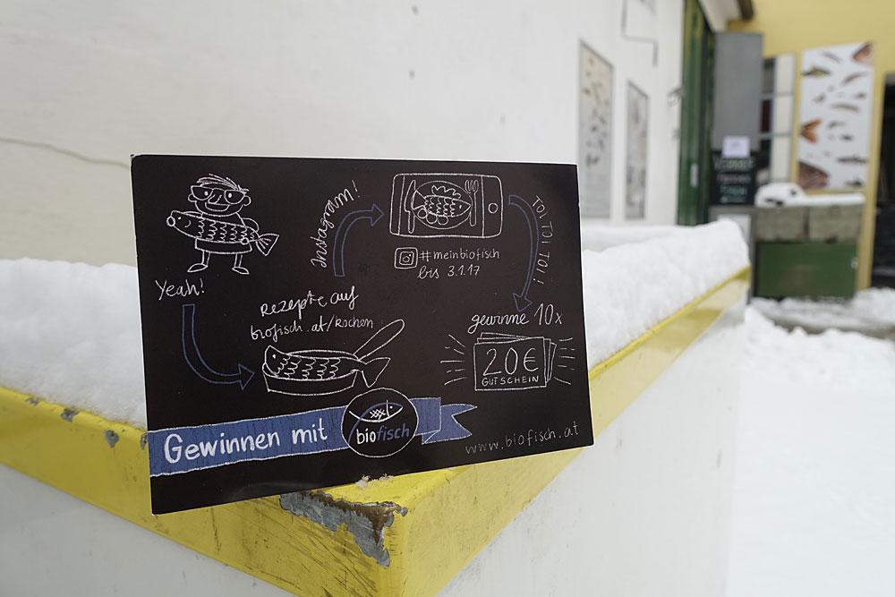 Biofisch - Sketchnote-Postkarte im Schnee - Sketchnotemafia