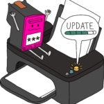 Superpatrone - Patrone wartet gespannt auf das Druckerupdate - Visualisierung Sketchnotemafia