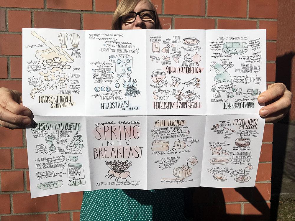 Spring into Breakfast – Frühlingshafte Sketchrezepte im Zine-Format