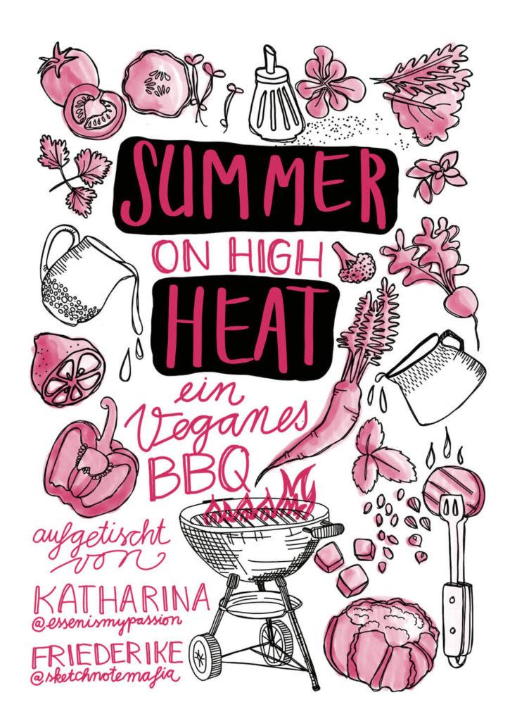 Summer on high Heat - Rezepteheft Cover