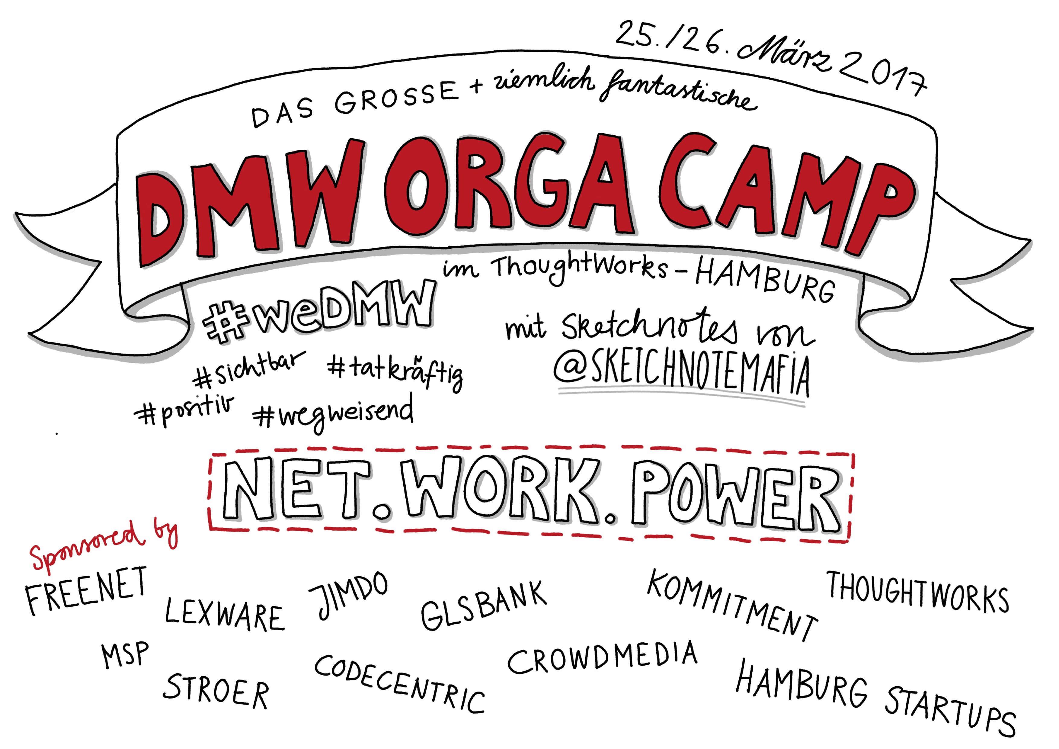 Das ziemlich fantastische DMW Orga Camp – #wedmw